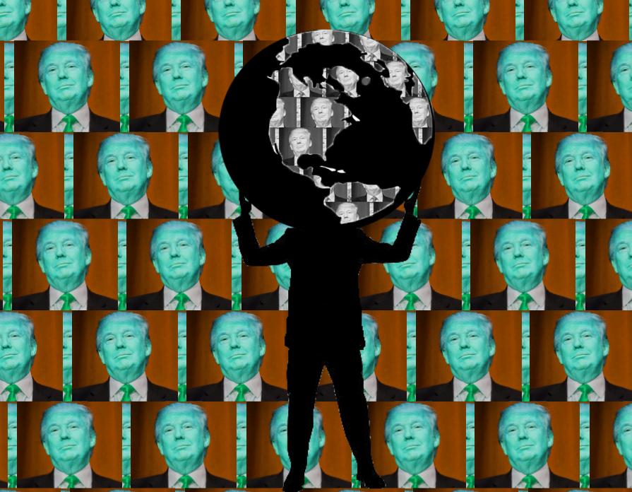 trump-wall-of-trumps-man-holds-globe