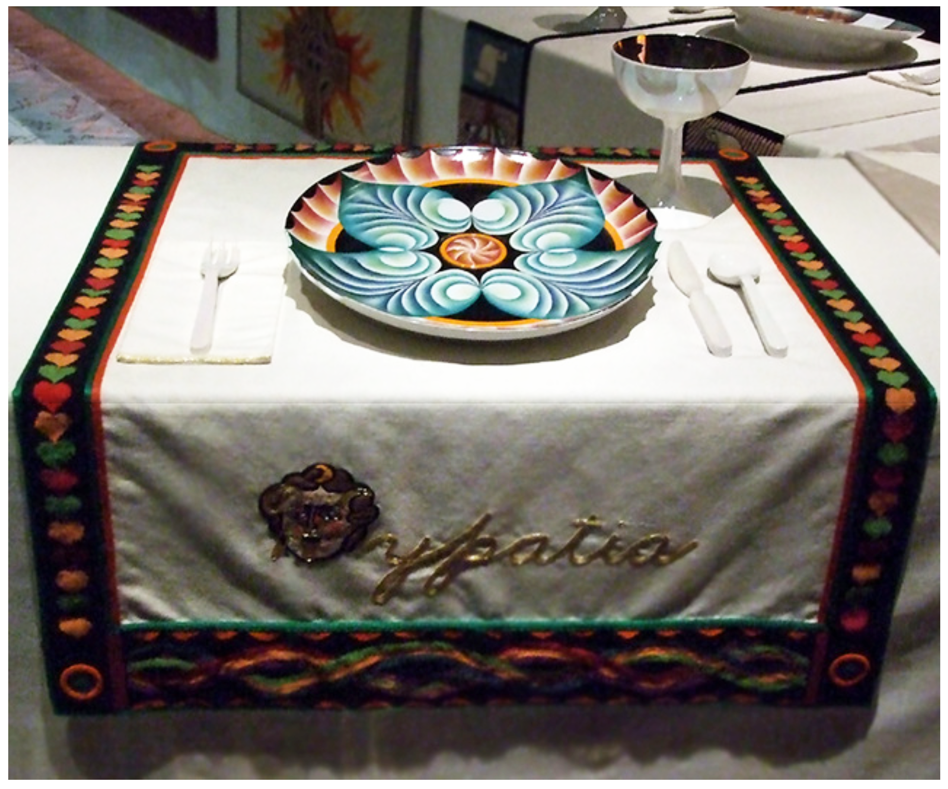 Judy Chicago's Dinner Party - Hypatia
